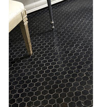marble floor tile NERO MARQUINA ANN SACKS