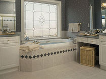 marble look porcelain stoneware floor tile (FloorScore certified, low VOC emissions) EMPIRE Crossville