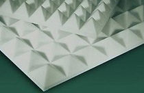 melamine resine sound absorption panel SOFT-POINT CLASS 1 ECOPOLIMER