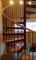 metal and wood railing  STAIRWAYS inc