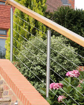 metal and wood railing  Kevala Stairs Limited