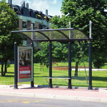 metal bus shelter ARTS by Alfredo Tasca METALCO