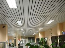 metal ceiling strip LC OPEN GAP - LS OPEN RIBBED  METALSCREEN