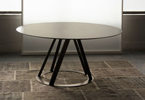 metal contemporary round table BIG IRONY ROUND TABLE ZEUS