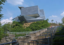 metal facade cladding: zinc HUNTER MUSEUM Zahner