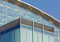metal grid facade cladding AIRFOIL SCREEN WALL GRILLES doralco