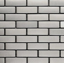 metal mosaic tile BRICK (Satinado HL-64x20) The Inox in Color