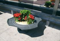 metal planter for public spaces BLASON  VIMALTO