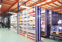 metal sheet archive shelving  Samas