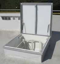 metal smoke roof-hatch MCR PROLIGHT Mercor