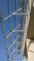 metal structure (for glazed curved decking)  Tenesol