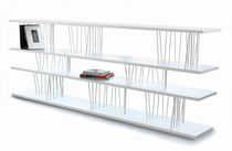 minimalist design lacquered low shelf STIX by Benninghoff & Bond COVO