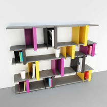minimalist design lacquered low shelf PLIO-BA presse-citron
