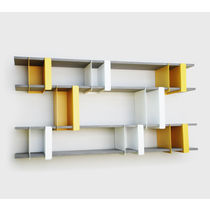 minimalist design lacquered wall shelf PLIO-HO presse-citron