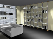 minimalist design metal bookcase MULTIPLI LUXURY BOOKCASE SABINOAPRILE/Interior Design