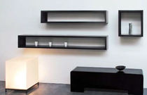 minimalist design metal wall shelf IRONY WALL RACK by Maurizio Peregalli ZEUS
