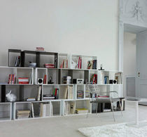 minimalist design modular bookcase CUTS by Philippe Nigro Ligne Roset France