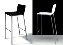 minimalist design stool BIANCO by Doriana & Massimiliano Fuksas ZEUS