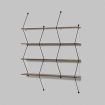 minimalist design wooden and metal wall shelf CLIMB by Bashko Trybek LA CHANCE