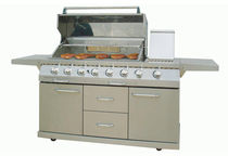 mobile gas barbecue (stainless steel) BARBACOA CB-6 HERGOM