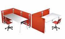 modular reception desk FLUOWALL RED PAXTON