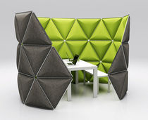 modular small office partition in recyclable fabric FORMKIND SYSTEM formkind