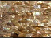 mother of pearl mosaic tile brown musse LimeStone Gallery
