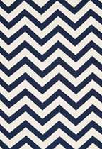 motif fabric ANTIBES CHEVRON NAVY F. SCHUMACHER & CO.