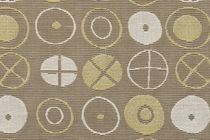 motif fabric for upholstery (Greenguard® certification) TEXTILES OF THE 20TH CENTURY: CIRCLES by Charles and Ray Eam Maharam