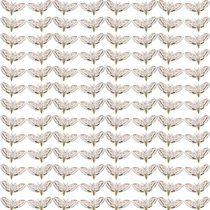 motif linen fabric WHITE MOTH GRID Timorous Beasties