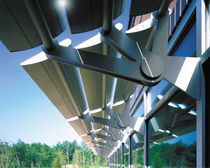 motorized swinging solar shading 1600 POWERSHADE® ALCOA ARCHITECTURAL PRODUCTS