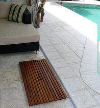 movable floor for public pools LE SPA TEAK FLOOR AND ANTI-SLIP SHOWER MATS Infinita Corporation