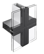 mullion and transom curtain wall (aluminium and glass) CLEARWALL™ Kawneer