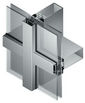 mullion and transom curtain wall (aluminium and glass) MB-SR50 HI Aluprof S.A