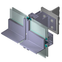 mullion and transom curtain wall (aluminium and glass) MB-SR100 Aluprof S.A