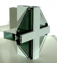 mullion and transom curtain wall (aluminium and glass) MAS F50 McMullen Architectural Systems Ltd.