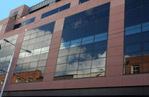 mullion and transom curtain wall (aluminium and glass) MAS F50SG McMullen Architectural Systems Ltd.