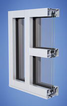 mullion and transom curtain wall (aluminium and glass) YES 45 XT YKK AP