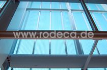 mullion and transom curtain wall (steel and polycarbonate)  rodeca