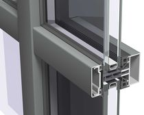 mullion and transom curtain wall (aluminium and glass) CW 50 / CW 50-FV Reynaers Aluminium