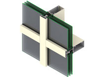 mullion and transom curtain wall (aluminium and glass) XTHERM� SYSTEM 5500X EFCO