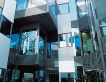 mullion and transom curtain wall (aluminium and glass) SL50 ALUK GROUP