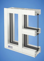 mullion and transom curtain wall (aluminium and glass) YES 45 FS/FI YKK AP