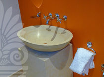 natural stone counter top washbasin JERUSALEM GOLD LimeStone Gallery