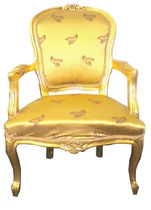 new baroque design armchair PATTERN / GOLD MOD3 Casa Padrino / Demotex GmbH