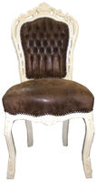 new baroque design chair BROWN / CREME Casa Padrino / Demotex GmbH