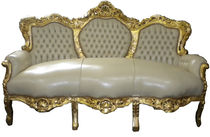 new baroque design sofa KING CREME / GOLD Casa Padrino / Demotex GmbH