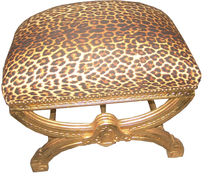 new baroque design stool LEOPARD / GOLD Casa Padrino / Demotex GmbH