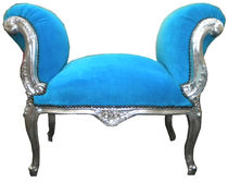 new baroque design upholstered bench TURQUOISE Casa Padrino / Demotex GmbH