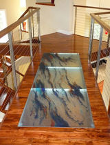 non-slip float glass panel (for floors)  Think Glass